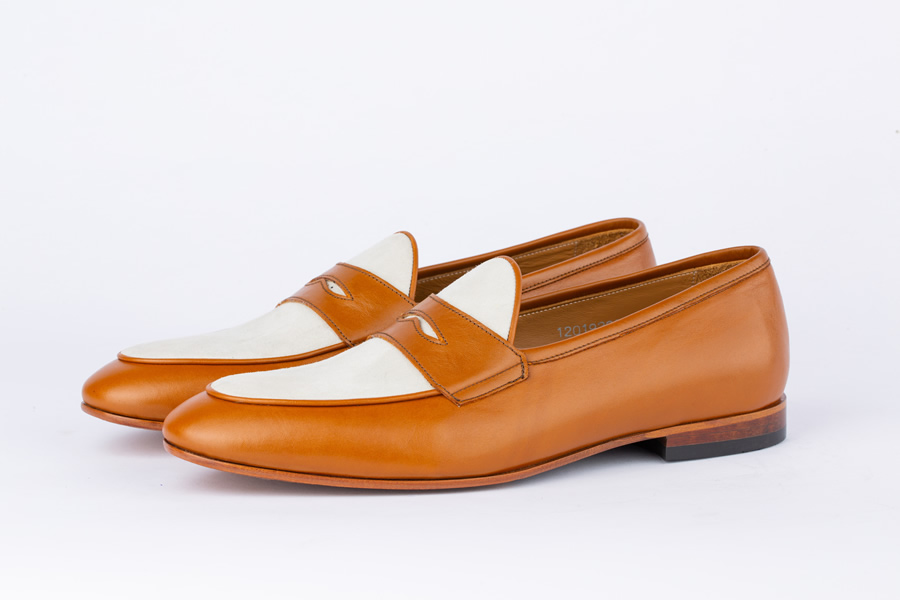 Capri Tan and Beige Loafers